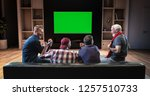 a group of fans is watching a...   Shutterstock . vector #1257510733