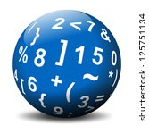 sphere with mathematical symbols | Shutterstock . vector #125751134