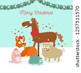merry christmas animals... | Shutterstock .eps vector #1257511570