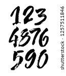 vector set of calligraphic...   Shutterstock .eps vector #1257511846