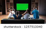 a group of students is watching ... | Shutterstock . vector #1257513340