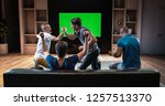 a group of students is watching ... | Shutterstock . vector #1257513370