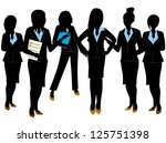 business woman team | Shutterstock .eps vector #125751398