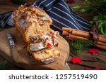 traditional christmas cake with ...   Shutterstock . vector #1257519490