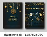 merry christmas and new year... | Shutterstock .eps vector #1257526030