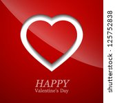 valentines day card with heart. ... | Shutterstock .eps vector #125752838