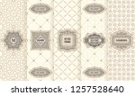 vector set of design elements... | Shutterstock .eps vector #1257528640