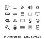 technology vector icon set. | Shutterstock .eps vector #1257529696