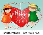 happy valentine's day. a pair... | Shutterstock .eps vector #1257531766