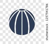 beach ball icon. trendy beach... | Shutterstock .eps vector #1257541786