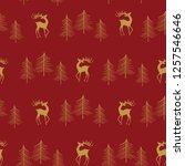seamless christmas pattern with ... | Shutterstock .eps vector #1257546646
