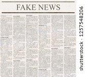 newspaper with headline fake...   Shutterstock . vector #1257548206