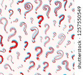 question mark seamless pattern..... | Shutterstock .eps vector #1257550549
