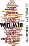 win win word cloud concept.... | Shutterstock .eps vector #1257552979