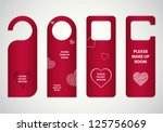 door tags with valentine's day... | Shutterstock .eps vector #125756069