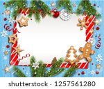 holiday illustration with... | Shutterstock .eps vector #1257561280