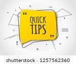 quick tips  helpful tricks... | Shutterstock .eps vector #1257562360