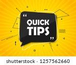 quick tips  helpful tricks... | Shutterstock .eps vector #1257562660