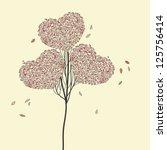 vector tree with hearts | Shutterstock .eps vector #125756414