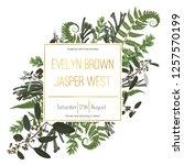 wedding floral invitation ... | Shutterstock .eps vector #1257570199