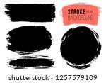 vector set of big hand drawn... | Shutterstock .eps vector #1257579109