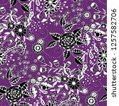 seamless pattern with little... | Shutterstock .eps vector #1257582706