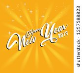 happy 2019 new year. holiday...   Shutterstock .eps vector #1257588823