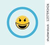 evil smile emoji icon symbol....   Shutterstock .eps vector #1257592426