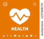 heart symbol   halftone logo..... | Shutterstock .eps vector #1257608170