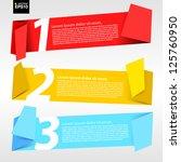 vector set of origami paper... | Shutterstock .eps vector #125760950