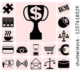 set of 17 business high quality ... | Shutterstock .eps vector #1257618529