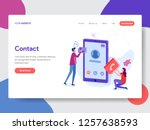 landing page template of phone...