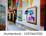 painting and local products at... | Shutterstock . vector #1257662530