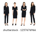vector of young  business woman ... | Shutterstock .eps vector #1257676966