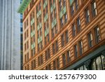 architecture details of a... | Shutterstock . vector #1257679300