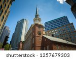 old south meeting house... | Shutterstock . vector #1257679303
