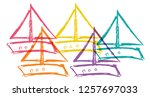 cute rainbow color set... | Shutterstock .eps vector #1257697033
