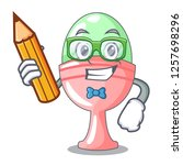 student colored easter egg in... | Shutterstock .eps vector #1257698296