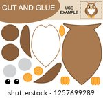 create the image of owl using... | Shutterstock .eps vector #1257699289
