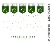pakistan independence day... | Shutterstock .eps vector #1257703066