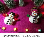 lovely snowman with christmas...   Shutterstock . vector #1257703783