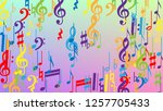 disco background. colorful... | Shutterstock .eps vector #1257705433