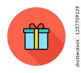 present   gift  surprise   | Shutterstock .eps vector #1257709129
