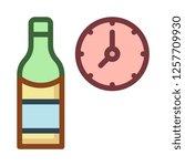 wine  alcohol   bottle  | Shutterstock .eps vector #1257709930