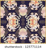 textile chinese floral paper...