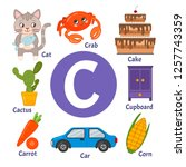 Learning Card Alphabet. Letter...