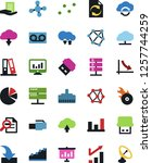 vector icon set   growth chart... | Shutterstock .eps vector #1257744259