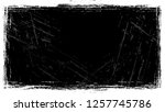 frame with scratch black and... | Shutterstock .eps vector #1257745786