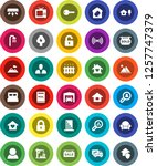 white solid icon set  house... | Shutterstock .eps vector #1257747379