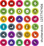 white solid icon set  toilet... | Shutterstock .eps vector #1257747406